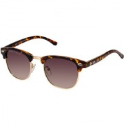 David Blake Brown Gradient Polarized UV Protected Clubmaster Sunglass