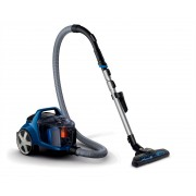 Aspirator fara sac Philips PowerPro Active FC9533/09, PowerCyclone 4, 750W, 1.7l, TriActive+, Duză de aspirare pentru podele dure, Perie Turbo Brush Animal, Albastru
