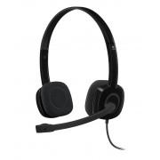 Logitech H151 Stereo Headset, Black