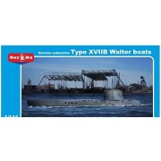 Micro-Mir German submarine type XVIIB Walter boats MM144-006