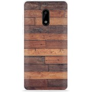 Nokia 6 Hoesje Houten planken