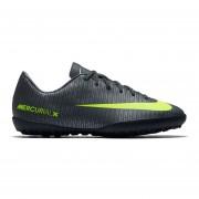Zapatos Fútbol Niño Nike Jr Mercurial Vapor XI CR7 TF-Negro Y Amarillo