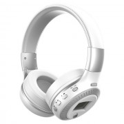 ZEALOT B19 Over-ear Bluetooth Headset with Mic Support TF Card/Aux/FM - White / Silver
