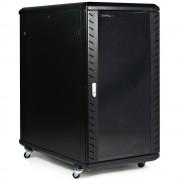 Rack Cabinet de Podea 18U, Neasamblat, Capacitate de Incarcare 80 Kg, 600X800 MM, 988 MM