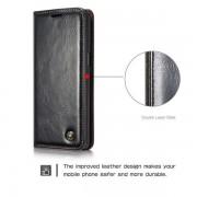 CaseMe läderfodral med ställ, Samsung Galaxy S8 Plus, svart