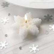 Candele a forma di fiocco di neve - Confezione da 3 pezzi