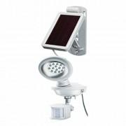 Napelemes LED fénysugárzó SOL 14, IP44 infravörös mozgásérzékelovel 14xLED 50lm Kabel-hossz 3m Szinek Fehér