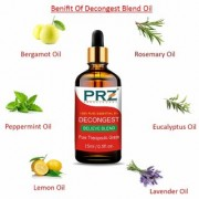 PRZ DECONGEST BELIEVE BLEND ESSENTIAL Oil (15 Ml) Pure Therapeutic Grade For Mind & Body Sense of Relaxation