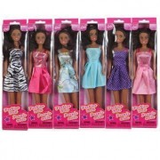 """African American Fashion Dolls, 11"""". Set Of 6 With Different Clothes. Introduce Them To Your Barbie Collection. Great Favors For Birthday Party Gifts. By Tbc Home Decor."""