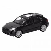 Porsche Speelgoed zwarte Porsche Macan Turbo auto 12 cm