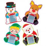 Christmas Character Magnetic Drawing Boards - 8 Doodle Boards For Kids In 4 Designs. Stocking Filler Magic Slates. Size 24cm.