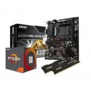 Combo Actualizacion Amd Ryzen 5 2600 16gb Fury Am4-Negro