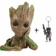 Figurina BABY GROOT plus Breloc cu Rocket din Guardians Of The Galaxy