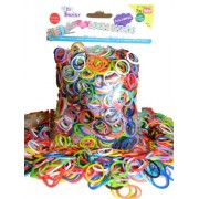 Wild Basics Loom Rubber Bands - 1025 Rubber Band Value Pack with Clips (Rainbow Colors) - 100% Compatible with all Looms