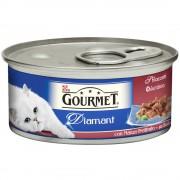 12 x 85 g Gourmet Diamant buey comida húmeda para gatos