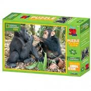 National Geographic Kids 63 piece 3D Puzzle Jigsaw Chimpanzee & Gorilla 10524