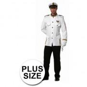 Geen Grote maten kapitein kostuum voor heren