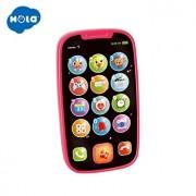 Jucarie interactiva Hola Toys, Primul meu telefon smart roz, cu sunete si lumini