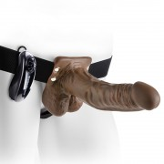 "STRAP-ON HUECO CON VIBRACIÓN Y TESTICULOS 7"" FETISH FANTASY SERIES"