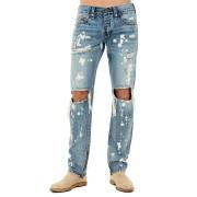 【85%OFF】ROCCO ブリーチウォッシュ ダメージ スキニーデニム サイバーリベル 34 ファッション > メンズウエア~~パンツ