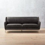 Alfred Black Leather Sofa by CB2