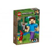 21148 Minecraft Steve BigFig cu papagal