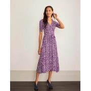 Boden Edelsteinviolett, Abstraktes Tiermuster Lavinia Wickelkeid aus Jersey Damen Boden, 32 R, Purple