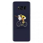 Husa silicon pentru Samsung Galaxy S8 ET Riding Bike Funny Illustration