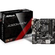 ASRock A320M-HDV AM4 AMD Promontory A320 SATA 6Gb/s USB 3.0 HDMI Micro ATX AMD Motherboard