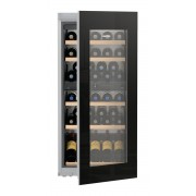 Vitrină de vin încorporabilă EWTgb 2383, 169 L, 51 sticle, Alarmă uşă, Siguranţă copii, Display, Control electronic, Iluminare LED, Rafturi lemn, H 122 cm, Clasa A
