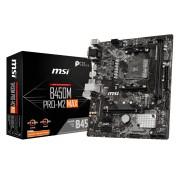 MB MSI B450M Pro-M2 MAX, AM4, micro ATX, 2x DDR4, AMD B450, VGA, DVI-D, HDMI, 36mj (7B84-017R)