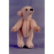 "World Of Miniature Bears 2.75"" Plush White Polar Bear Polaris #670 Collectible Miniature Made By Hand"