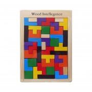 Baby Puzzle Toy Mosaico De Color Madera, Tetris, Tamaño: 27 * 18cm