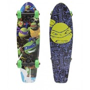 "PlayWheels Teenage Mutant Ninja Turtles 21"" Wood Cruiser Skateboard - Turtle Power Graphic"