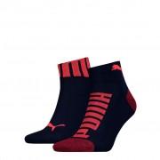 Puma sokken quarter logo heren Blue / Red 2-pack-43/46