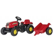 Rolly Toys traptractor RollyKid-X junior rood - Rood - Grootte: One Size