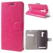 Notesz tok / flip tok - RÓZSASZÍN - asztali tartó funkciós, oldalra nyíló, rejtett mágneses záródás, bankkártya tartó, szilikon belső - ASUS ZenFone GO TV (ZB551KL)
