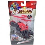 Power Rangers - Комплект мега рейнджър и мотор с мечове - Червен