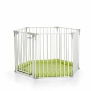 Protectie semineu copii Baby Park White, mecanism de blocare, paturica moale inclusa