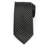 Klasszikus férfi nyakkendő fekete színben, fehér mintával (1304-es minta) 8459
