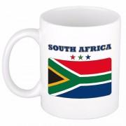 Shoppartners Beker / mok met vlag van Zuid Afrika 300 ml Multi