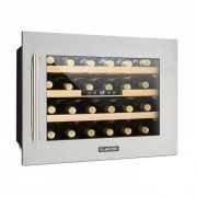 Klarstein Vinsider 24D, вграден хладилник за вино, 2 хладилни зони, 24 бутилки, неръждаема стомана (HEA3- Vinsider-24D)