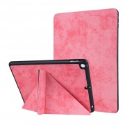 PU Leather Stand Tablet Case Shell with Pen Slot for iPad 10.2 (2019) - Pink