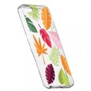 Husa Silicon Transparent Slim Toamna Frunze 151 Apple iPhone 5 5S SE