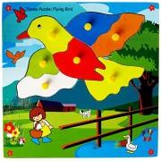 Skillofun Wooden Theme Puzzle Standard Flying Bird Knobs, Multi Color