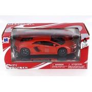 New Ray Lamborghini Aventador LP 700-4, Orange - 71253OR 1/24 Scale Diecast Model Toy Car