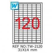 Etichete A4 , 31 X 14mm , TW 2120