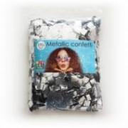 ballonnenparade confetti square 10x10mm - silver