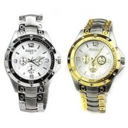 EXCLUSIVE ROSRA WATCHES FOR MEN (GOLDEN AND SILVER) COMBO