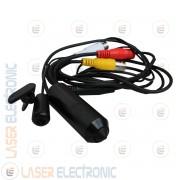 Mini Micro Telecamera Bullet Lente Pinhole con Microfono Analogica CCD Sony 700TVL Linee